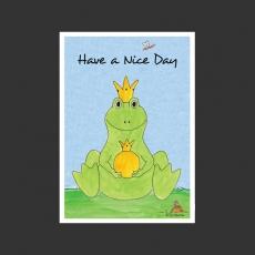 Postkarte Aquarell-Künstlerkarte - Frosch