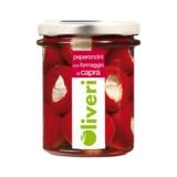 Oliveri - Peperoncini mit Ziegenkäse in Olivenöl
