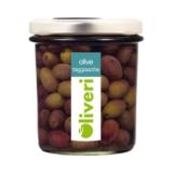 Oliveri - Taggiasca-Oliven in Salzlake