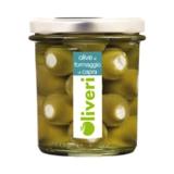 Oliveri - Grüne Oliven mit Ziegenkäse gefüllt