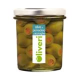 Oliveri - Grüne Oliven mit Tomaten und Sardellen gefüllt