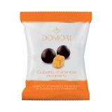 Domori - Orangenwürfel mit Edelbitterschokolade umhüllt