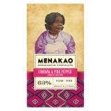 Menakao - Edelbitterschokolade mit rosa Pfeffer 63 %
