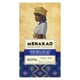 Menakao - Edelbitterschokolade mit Kakaosplittern und Meersalz 63 %