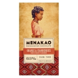 Menakao - Edelbitterschokolade mit Orangen und Cranberries 63 %
