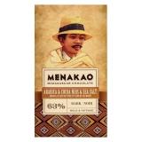 Menakao - Edelbitterschokolade mit Kaffee und Meersalz 63 %