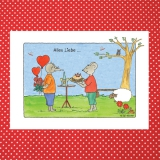 Postkarte Aquarell-Künstlerkarte Alles Liebe