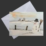 Weihnachtskarte - Schneemann